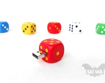 Dice usb flash drive 8/16/32/64GB - Memory Stick - Color Dice - Lucky games accessory - Rounded corner - Gambling usb - Casino - Feel lucky!