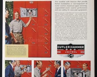 1955 cutler hammer unitrol ad 1950s motor control center for Cutler hammer motor control center