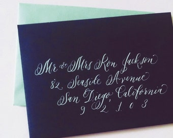 Lilac Style; Wedding Envelope Calligraphy; Hand Addresed