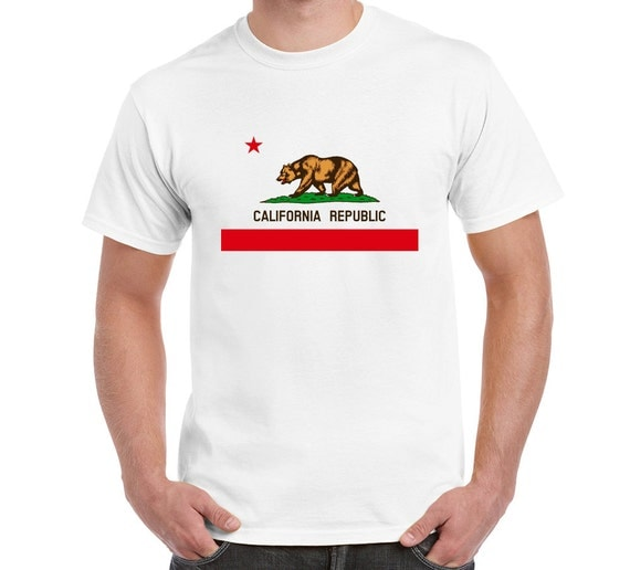 California T Shirt Tee Los Angeles Californian By