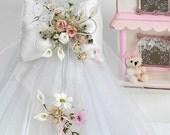 Lambada flowers * Greek baptism candles - Orthodox christening candles - White baptism candles - Baby girl baptism candle - Handmade set
