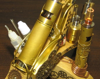 Vape Stand .. Steam Throne Kool Bastet .. 2 MODs and 4 Atties