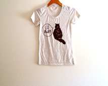 natural cream tan brown cat shirt, funny cat shirt, gift for cat lover, crazy cat lady, teen girl apparel, hipster, cat tee shirt, for her