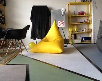 Bean bag chairs pyramid - Bag-chair pyramid yellow, Bean Bag Cover