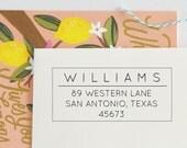 Classic Return Address Stamp - Personalized Address Stamp - Custom address stamp - Personalized Stamp - Self Inking - Wood block - No. 61