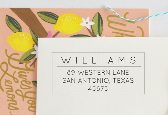 Classic Return Address Stamp - Personalized Address Stamp - Custom address stamp - Personalized Stamp - Self Inking - Wood block - No. 61
