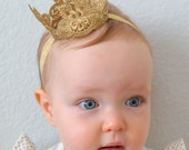 The Regal Lace Princess Crown, Baby Crown, Gold Crown, Child's Crown, Mini Crown, Lace Crown, Silver Crown, Baby Headband, Crown Headband
