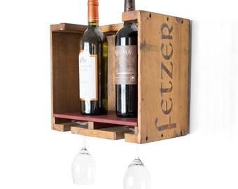 wood wine rack vintage wooden wine box rustic wine rack small wall wine - Wooden Wine Rack