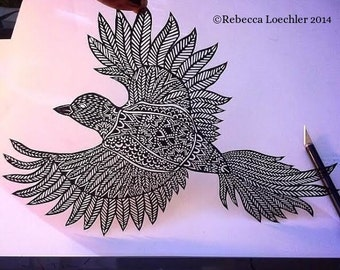 Bird In Flight Paper Cut Out