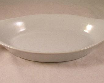 Vintage White Au Gratin Dish