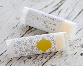 Lemongrass Lip Balm, Natural , Vegan, essential oils