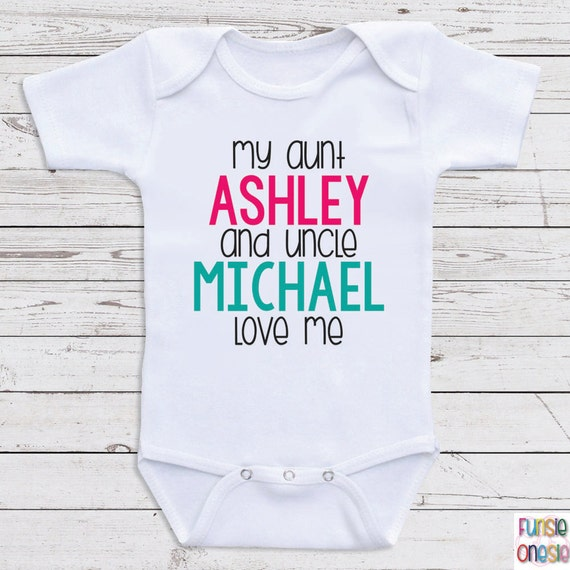 Baby outfits shopswell custom baby clothes my aunt and uncle love me personalized baby clothes for negle Image collections