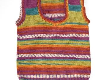 Knit baby vest, baby vest, knitted baby vest, wool vest, colorful vest, knitted vest, knit vest, baby sweater, baby clothing