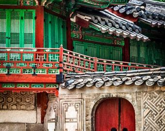 Ancient Korean Palace, Large Wall Art, Korea Decor, Fine Art Photography, Canvas Gallery Wrap, Archival Photographic Paper & Metal