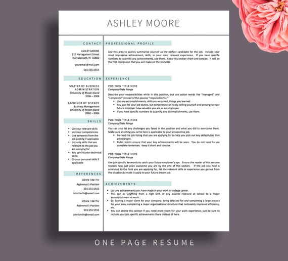 modern resume templates for word  u0026 pages by printablesbylulu