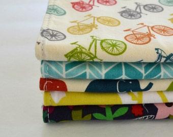 Burp Cloths . Baby Shower Gift . Set of 5 Baby Burp Cloths . CHOOSE YOUR FABRICS . Eco-Organic