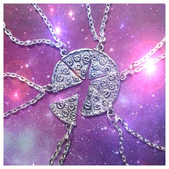 Pizza slice friendship necklace, sold per slice (qty 1 necklace)