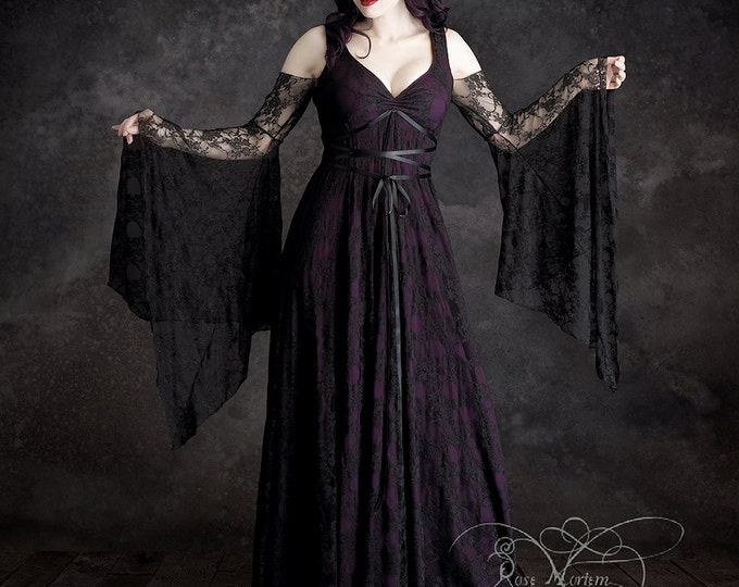Willow Garden Fairy Tale Vampire Romantic Gothic Wedding Dress - Handmade Bespoke - Dark Romantic Couture by Rose Mortem
