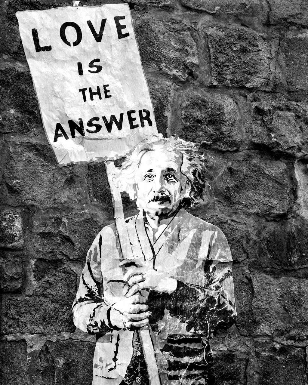 The Answer Is The Five Guardians Of The Frink Lanterns Or: Banksy Street Art Graffiti Photography Love Is The Answer