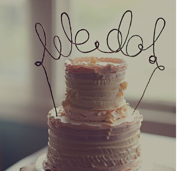 Rustic Chic Wedding Cakes: Rustic WE DO Wedding Cake Topper Rustic Wedding Cake Topper