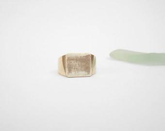 Men Sterling silver ring Square ring raw silver ring textured ring Rectangle ring Silver jewelry gift for men Israeli jewelry by Hila Welner