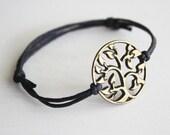 Tree of Life Bracelet or Anklet in Antique Brass, Bronze Bracelet, Woodland Jewelry, Tree Bracelet