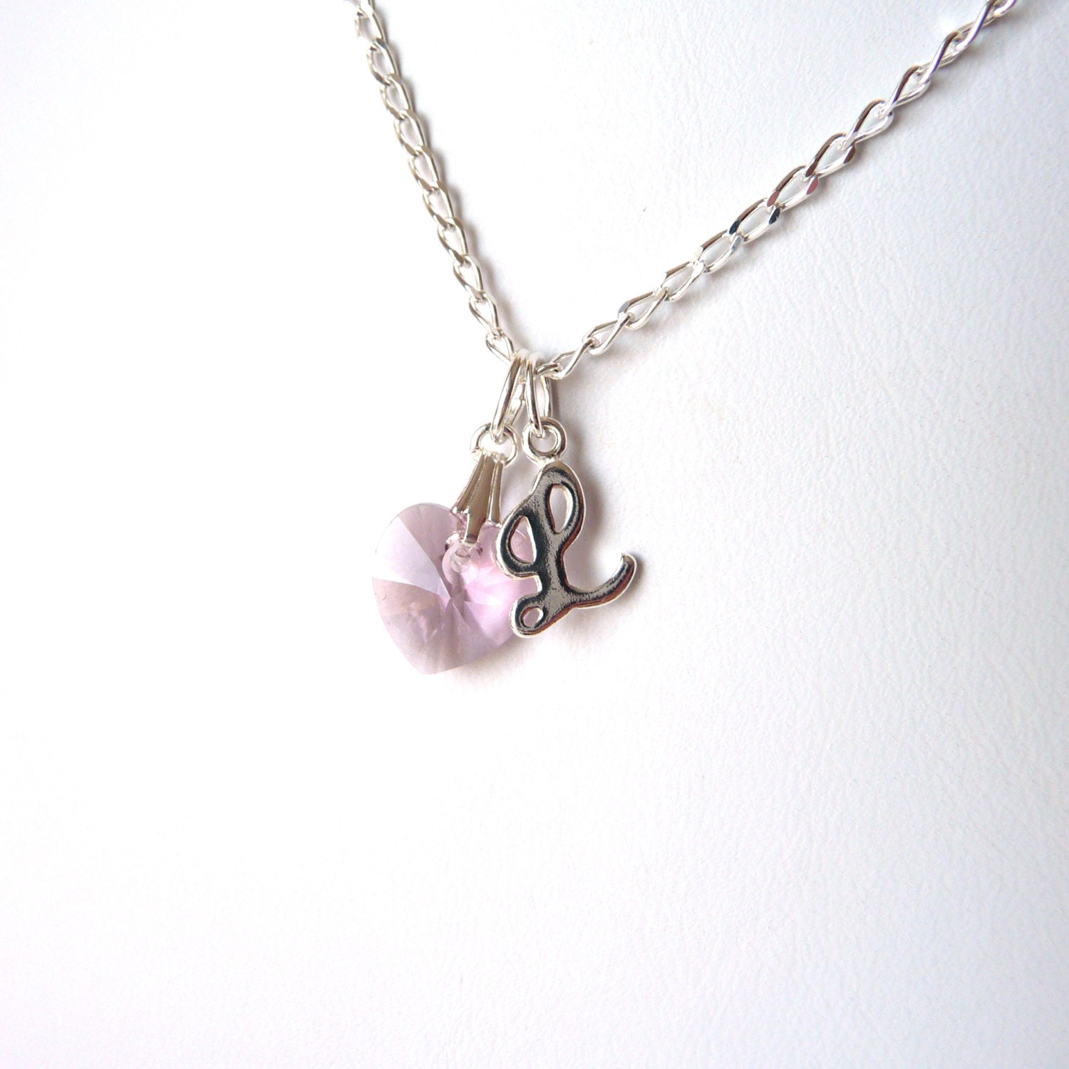 Girls Initial Necklace June Birthstone Necklace Sterling