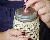 Crochet Pattern Cozy Pint Size Mason Jar Cover CROCHET PATTERN PDF Instant Download