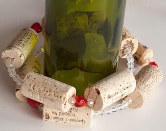 Christmas Garland, Christmas Stocking Gift, Wine Cork Garland, Christmas Decor, Wine Decor, Wine Cork Wreath, Christmas Gift