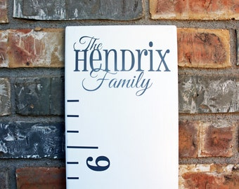 Sale! 30% off - DIY Growth Chart Ruler Add-On -- Custom Personalized Decal -- Top Header -- Family Name