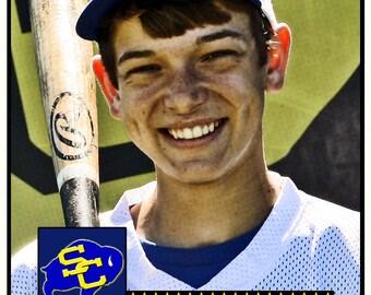 Custom Personalized Baseball Card