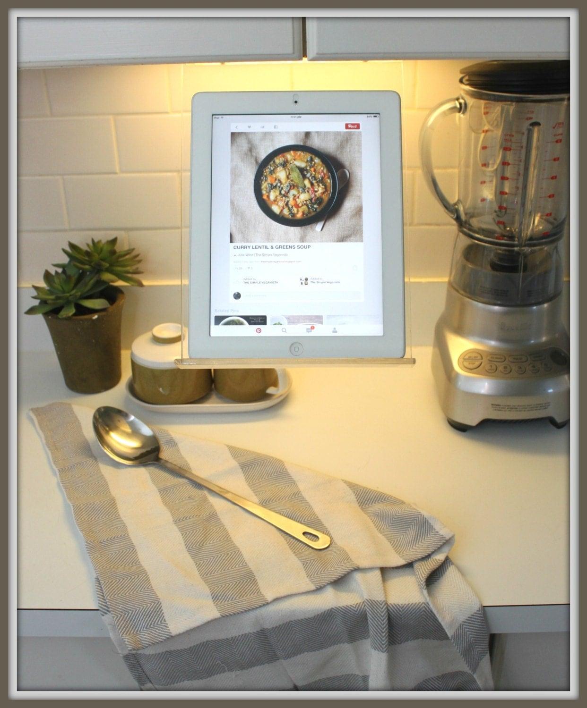 Under Mount Kitchen Cabinet Tablet Ipad Recipe Holder by RKcad