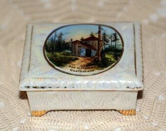 Vintage German Trinket Box Souvenir