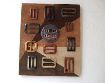 Buckle up - original mixed media assemblage wall art