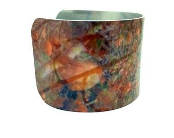 20% OFF Jewelry - Spring Jewelry - Aluminum Cuff Bracelet - Rosehip0s - Digital Photographic Collage