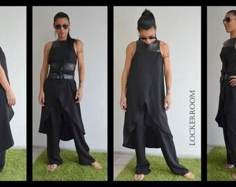 Womens jumpsuit /Black jumpsuit /Sleeveless Jumpsuit /Summer Jumpsuit /Harem jumpsuit / Loose jumpsuit