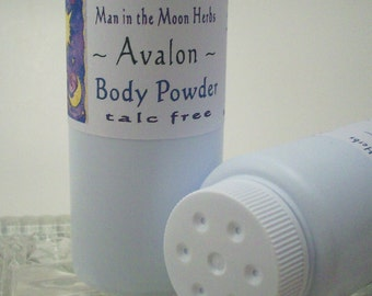 Body Powder - Talc Free Avalon - Patchouli Musk and Sandalwood
