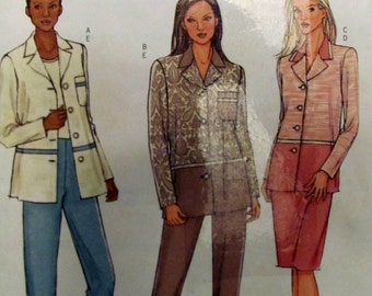 Butterick 4403, Ladies Petite Shirt - Jacket, Skirt and Pants Sewing Pattern, Sizes 16,18,20 and 22