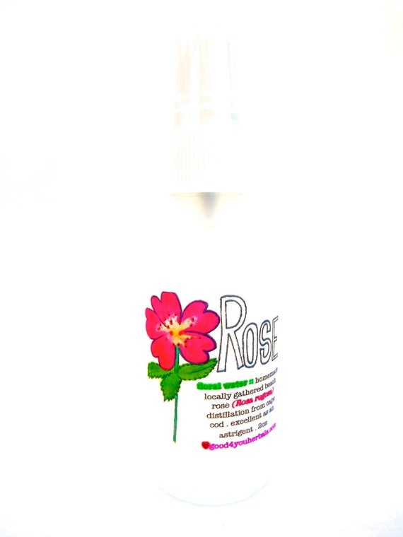 Beach Rose Floral Toner + Body Mist . natural skin care