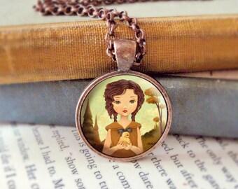 Kids Jewelry, Kids Pendant Necklace, Necklace For Girls, Jewelry for Girls, Cute Jewelry, Girl Pendant, Girls Necklace Jewelry - Little Peep