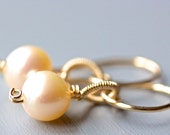 Patisserie Earrings - Pearl and Gold