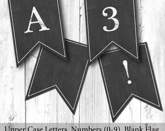 Printable DIY Chalkboard Bunting Sign (5x7) - Instant Download