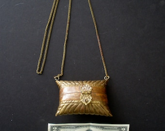 Mini Brass & Copper Purse With Decorative Hinges