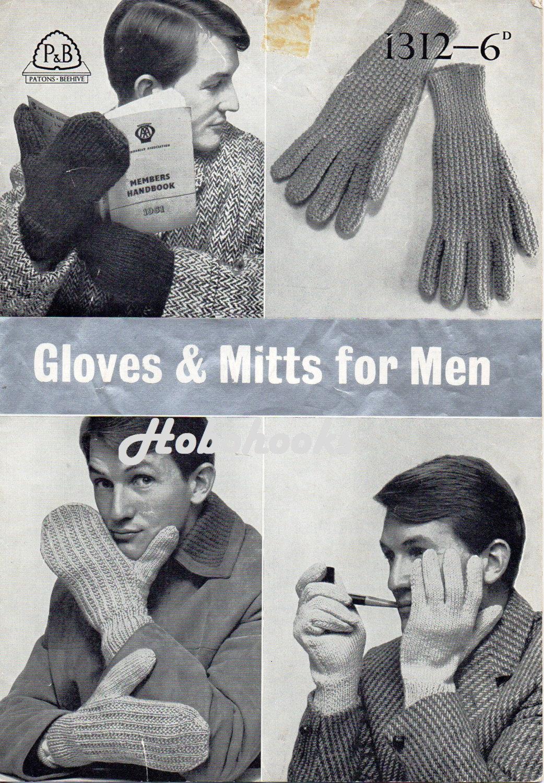 Knitting Pattern Mens Gloves Dk : Mens Knitting Patterns Mens Gloves Patterns Mens by Hobohooks