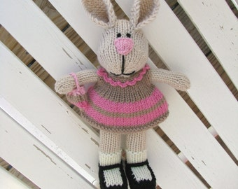 Stuffed Animal, Kids Rabbit Toy, Bunny Doll Softie, Bunny Kids, Hand Knit Stuff Bunny, Stuffed Animal Plush Toy, Child Gift Toy Plush Doll