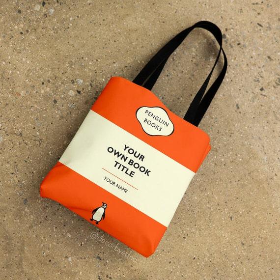 Penguin Book Cover Tote Bag ~ Full print all over tote bag penguin books by decorbyedna