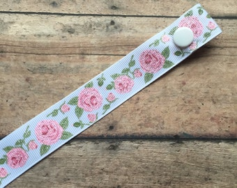 Vintage Shabby Chic Style Rose Pacifier Clip