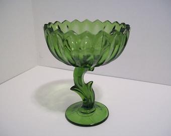 Indiana Glass Company Emerald Glass Compote