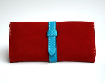 Womens Red Wallet,  Red Wallet, Leather Wallet, Womens Wallet