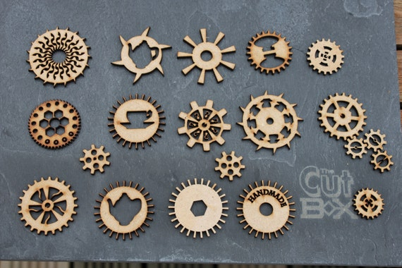 Steampunk cogs for craft and art projects for Steampunk arts and crafts